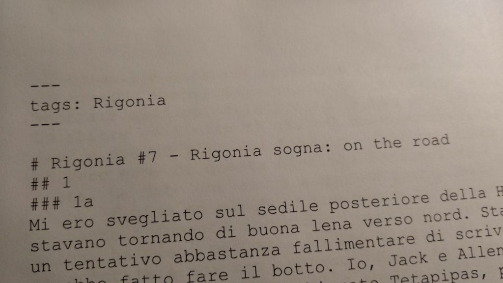 Rigonia #7 Sogno On the Road