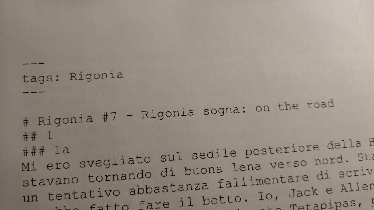 Rigonia #7 Sogno On the Road