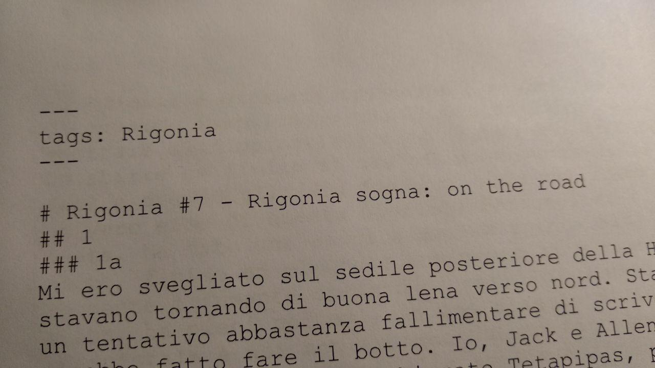 Read more about the article Rigonia sogna: Sulla strada