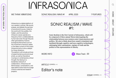 Read more about the article Infrasonica